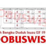 INDOBUSWISATA – Sewa Elf Jakarta – Blueprint Isuzu Elf – Denah Bangku Elf 19 Seats