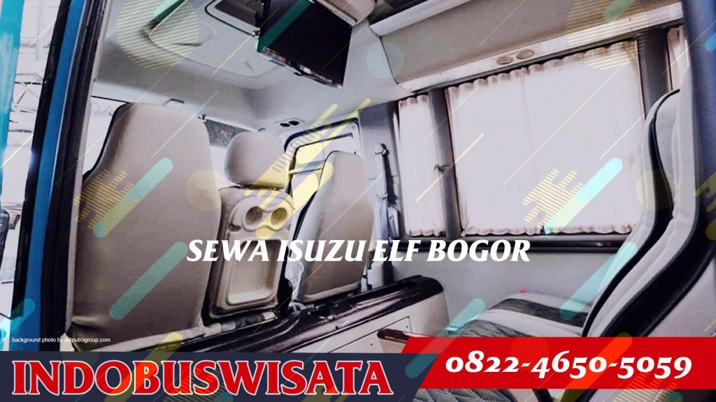 Destinasi Wisata Dengan Sewa Elf Bogor - Interior 2020 - Indobuswisata