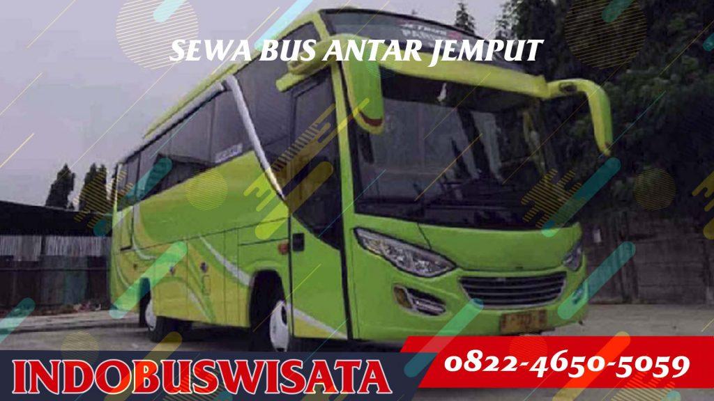 Sewa Bus Bandara - Medium Bus, Bus 3/4 – Tampak Samping