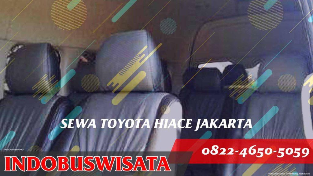 Sewa Hiace Jakarta – Toyota Hiace 9 .s.d 15 Seats – Interior Hadap Samping