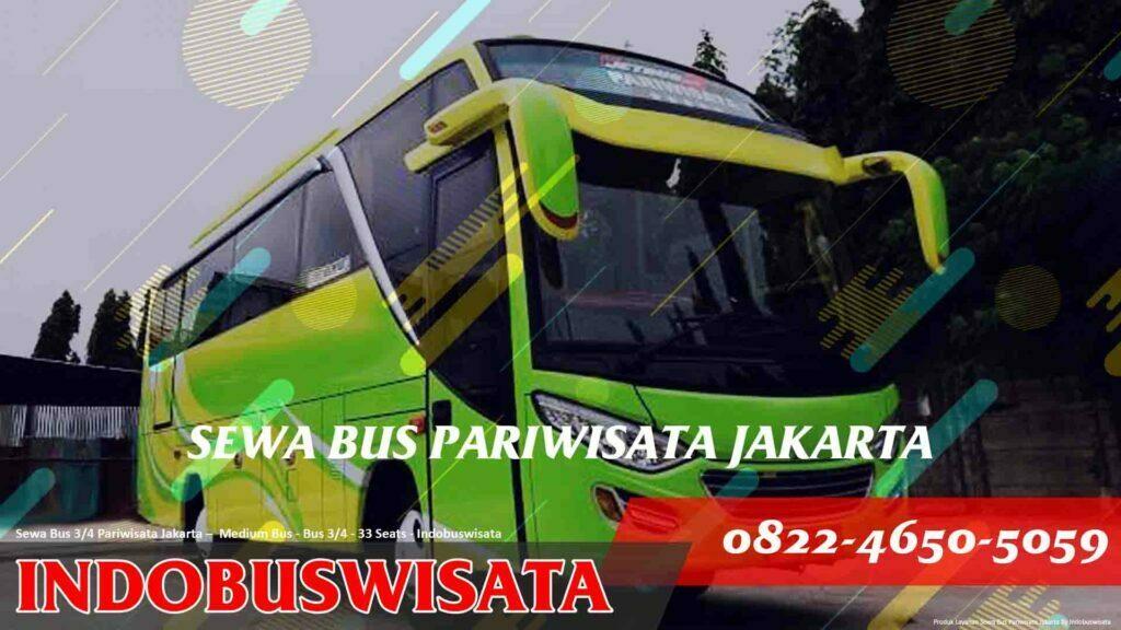 Sewa Bus 3 Per 4 Jakarta – Sewa Bus Pariwisata – Medium Bus 3 Per 4 33 Seats Exterior Tampak Samping