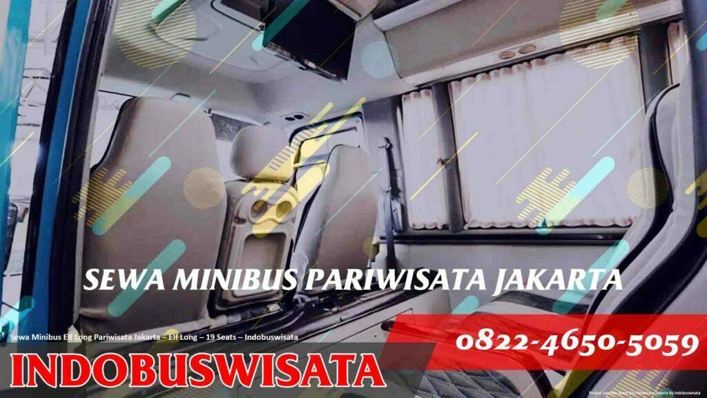 Sewa Minibus Isuzu Elf Long Jakarta – Sewa Bus Pariwisata – Elf Long 19 Seats Interior