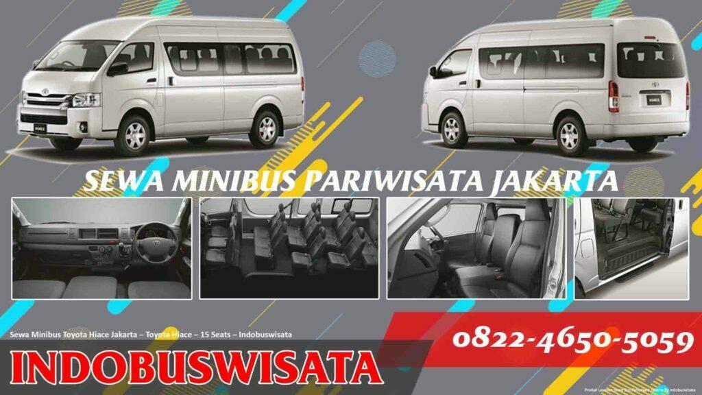 Sewa Minibus Toyota Hiace Jakarta – Sewa Bus Pariwisata – Toyota Hiace – 15 Seats – Interior Exterior
